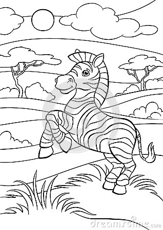 cute zebra coloring pages - coloring pages animals little cute zebra stock
