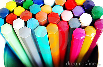 Coloring pencils in box