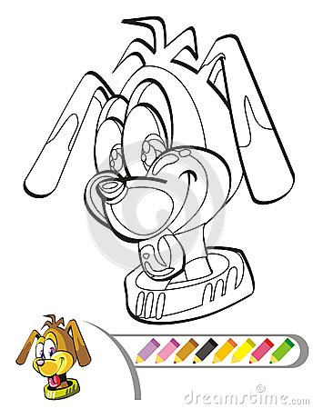 Coloring the picture of the puppy