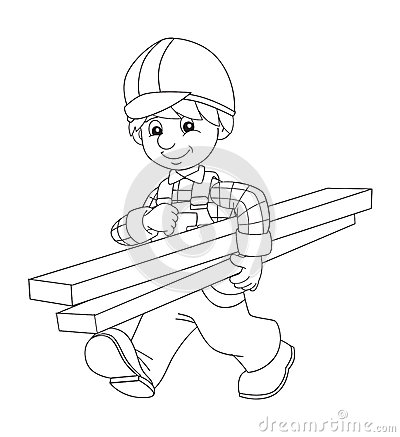 construction worker online coloring page. construction ...