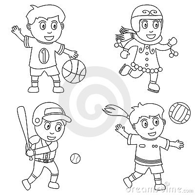 Free Coloring Sport For Kids [1] Stock Photos - 12273023