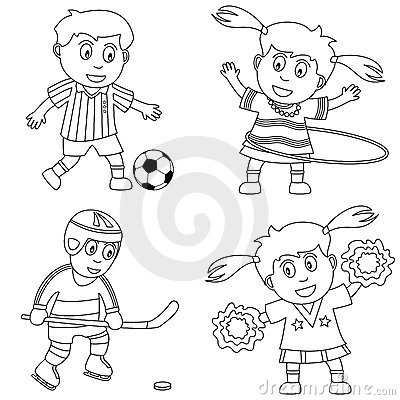 Free Coloring Sport For Kids [2] Royalty Free Stock Photography - 12345007