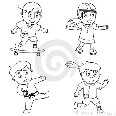 Free Coloring Sport For Kids [4] Stock Images - 12347114