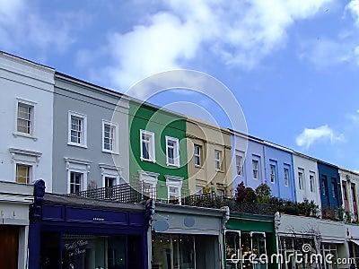 Colorized buildings street