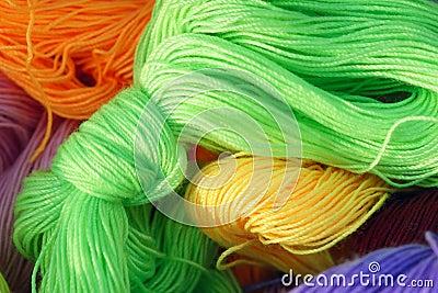 Colorized cotton thread