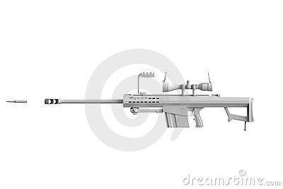 Colorless Gun with bullet
