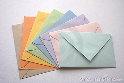 Coloroful envelopes