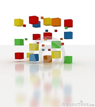 Colors block building