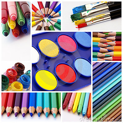 Colors Collage Royalty Free Stock Images - Image: 15958049