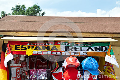 The colors of Euro 2012. Editorial Photo