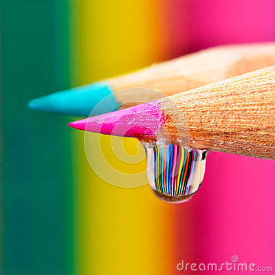 Free Colors Explosion On A Drop Royalty Free Stock Photos - 25491378