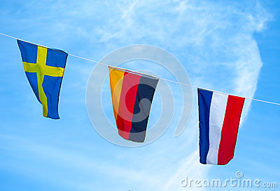 The colors Flag of Euro 2012.
