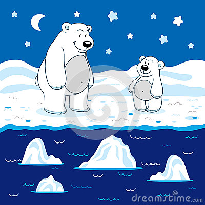 Free Colors For Kids: White (polar Bears) Royalty Free Stock Images - 48485839