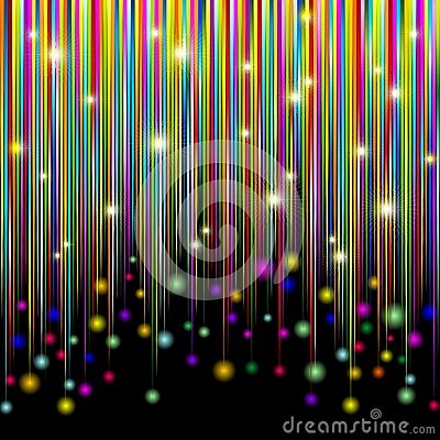 Colors and Glitter Stripes Abstract Pattern