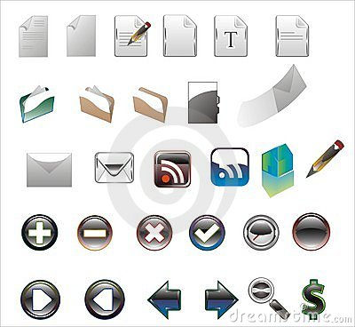 Colors icons on a white background.