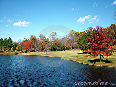 Colors on the Lake in the Fall