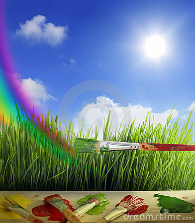 Colors of nature background