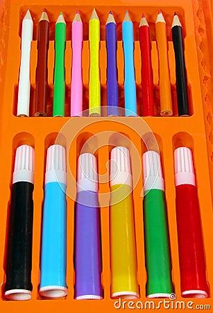 Colors pencil-box