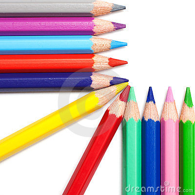 Free Colors Pencil In Series On White Background Royalty Free Stock Photo - 23605345