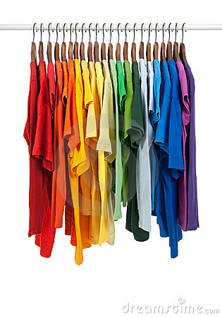 colors of rainbow. COLORS OF RAINBOW, SHIRTS ON