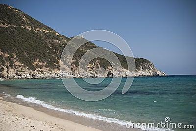 Colors of Sardinia. Solanas Beach