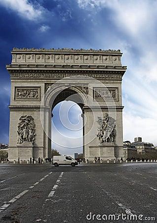 Colors of Sky over Triumph Arc, Paris