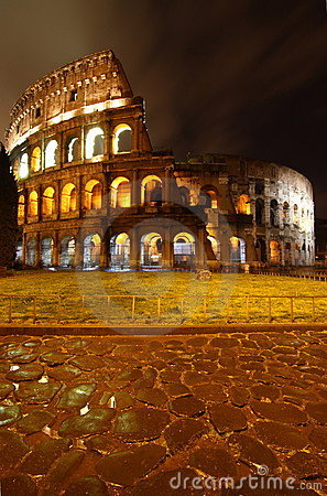 Free Colosseo At Night, Rome Stock Photo - 8428080