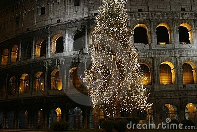 Colosseo at Christmas (Rome, Ita