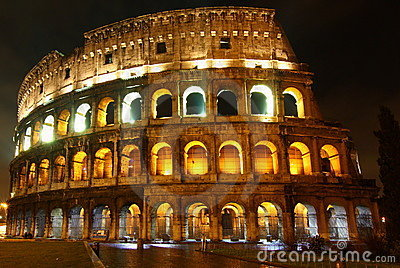 Colosseo at night, Rome
