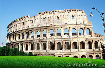 The Colosseo in Roma - Italia