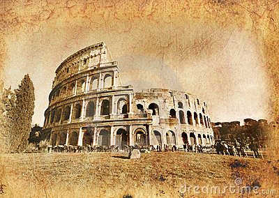 Colosseo In Vintage - Old Rome Stock Photos - Image: 18556713