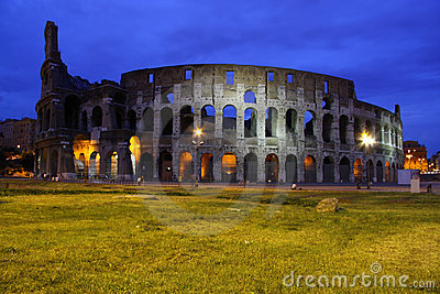 Colosseum, ancient Rome most famous landmark