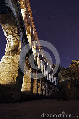 Free Colosseum At Night Light Stock Photography - 35765722