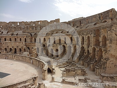 The Colosseum in the city of El Djem