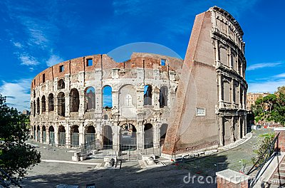 Colosseum or Coliseum, the Flavian Amphitheatre