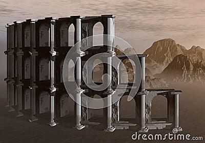 The Colosseum in the desert