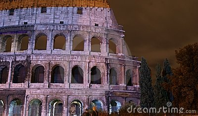 Colosseum illuminated