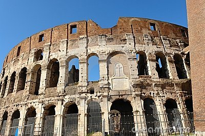 Colosseum monument in Rome Italy