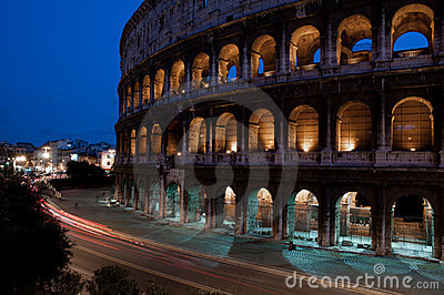 Colosseum at night,Rome