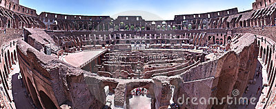 Colosseum roma italy inside view