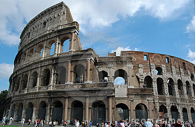 Colosseum romano Imagem de Stock Editorial