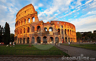 Colosseum in Rome Editorial Stock Image