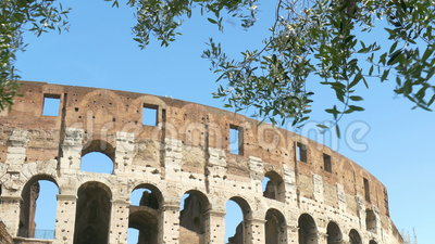 Colosseum in Rome. At daytime stock footage