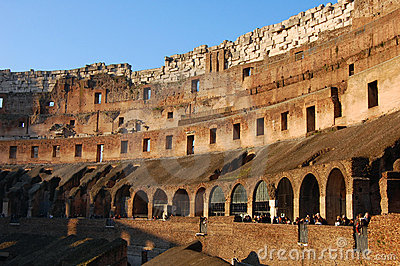 Colosseum Rome Italy interior detail