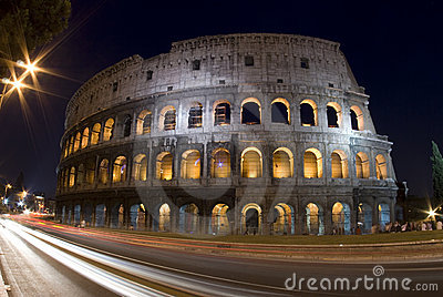 Colosseum rome italy night