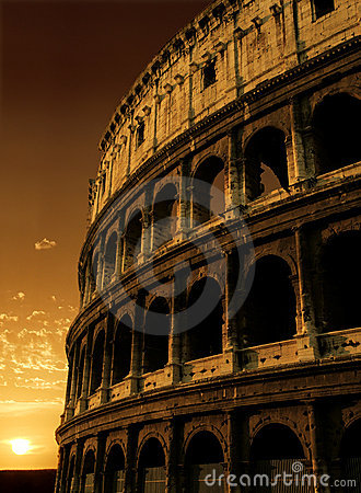 Free Colosseum Sunrise Royalty Free Stock Image - 889366