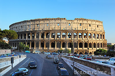 Colosseum, world famous landmark in Rome