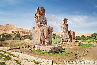 The Colossi of Memnon in Egypt