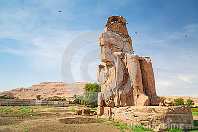 The Colossi of Memnon in Egypt