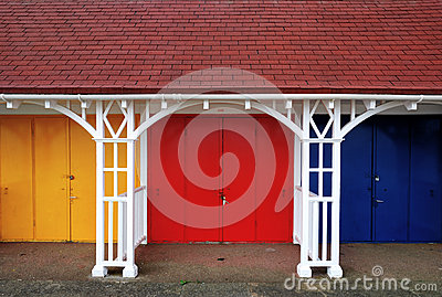 Colouful Beach Huts